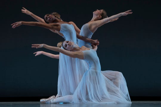 The Louisville Ballet performing Serenade, a Balanchine classic set to Tchaikovsky's music.