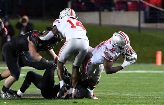 Out-playing Wisconsin's Jonathan Taylor on Saturday could do wonders for Ohio State running back J.K. Dobbins' stock as a Heisman Trophy candidate.