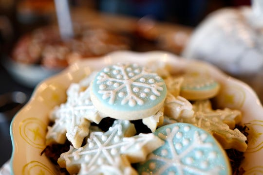 Festive desserts at Sweet LaLa's Bakery where Lifestyle blogger Cara Greenstein teaches a class on how to host a holiday cookie swap Tuesday, Oct. 22, 2019.