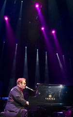 Elton John plays to a packed house at FedExForum on Nov. 4, 2005.
