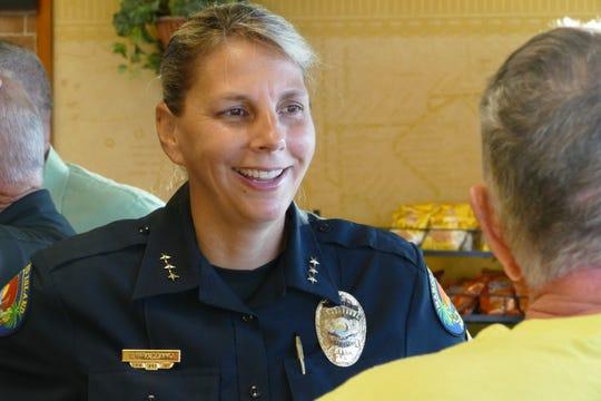Marco Island police chief Tracy L. Frazzano.