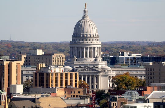 The Wisconsin Capitol. Photo by Mike De Sisti/Milwaukee Journal Sentinel.