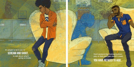 "Illustration from ""Dear Black Boy: It's Ok to Cry."""