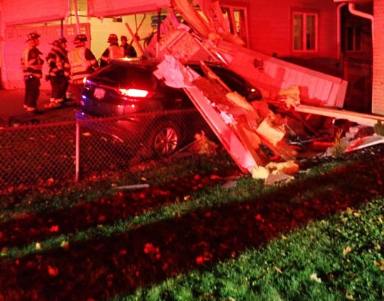 Wauwatosa police were dispatched Oct. 22 after a car ran a stop sign and struck a garage on Ravenswood Circle.