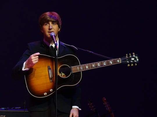 Adam Hastings performs as John Lennon for The Fab Four.