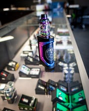 Kaleidoscope Vapor in Murfreesboro sells a variety of vaping devices, including this model that costs around $150.