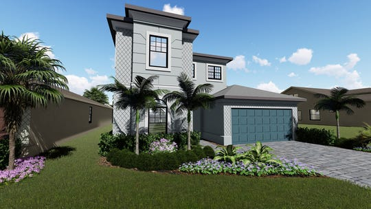 Palazzo at Naples is offering a 3,197 square-foot, 4-bedroom, 4-bath Massiano Provincial home that will be ready for move-in early next year.