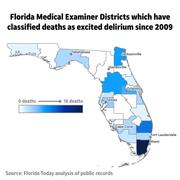 Graphic: Locations of excited delirium cases