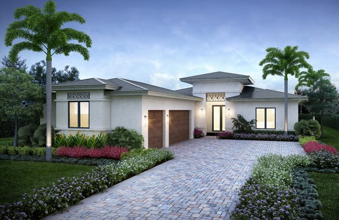 A residence featuring London Bay Homes' new Devonshire design is now under construction in Mediterra's Cabreo neighborhood.