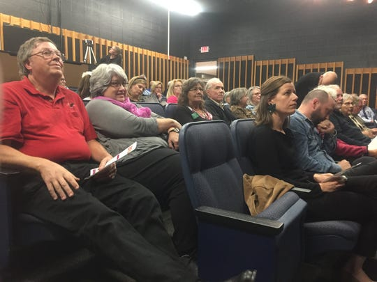 """Candidates and citizens fill the theater at Granville Middle School for the Oct. 22 """"Candidates & Issues Forum."""""""