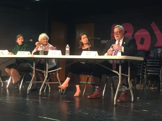 Candidates for Granville Board of Education include (from left) Amy Deeds, Barbara Lechner, Ceciel Shaw and Fred Wolf.