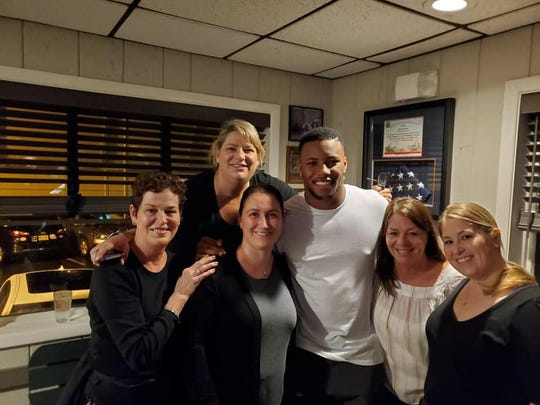 New York Giants Running Back Saquon Barkley dined at local favorite Bevacqua's Reservoir Tavern in Boonton on Tuesday night. October 22, 2019