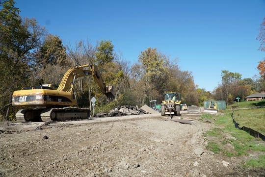 Lilley Road bridge work.