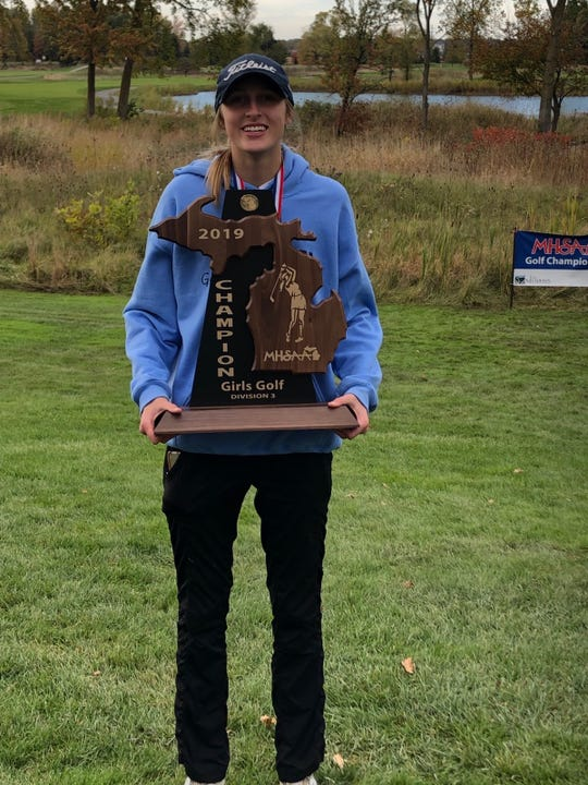 Marian junior Shannon Kennedy wins her second individual state title.