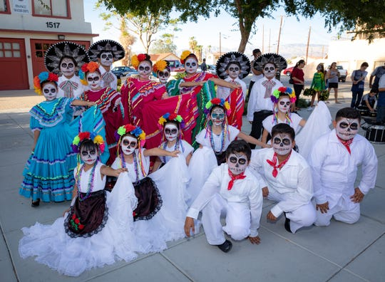 Children dress up at the 2018 Run with Los Muertos celebration.