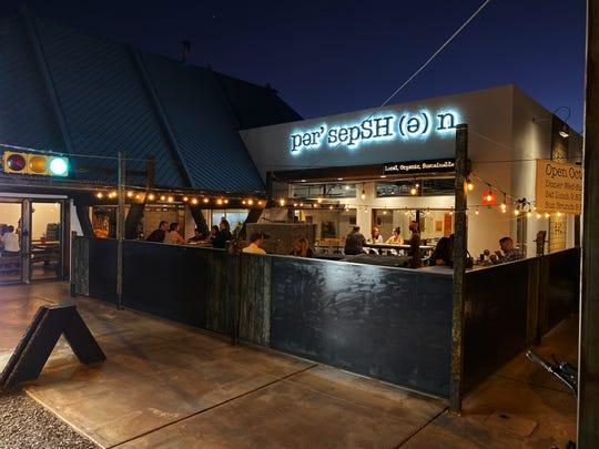 The exterior of Persepshen restaurant in Phoenix.