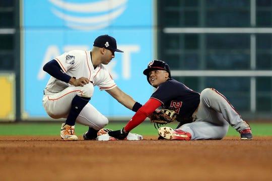 Astros y Nacionales brindaron un gran partido en el Juego 1 de la Serie Mundial.