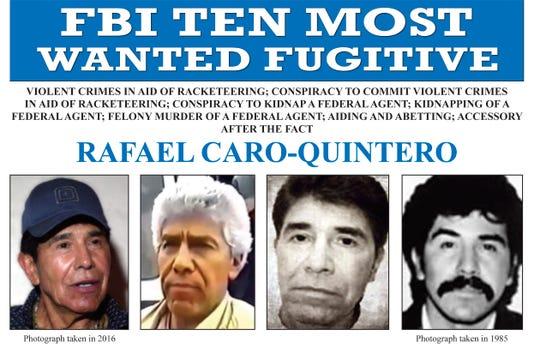Rafael Caro Quintero, uno de los fugitivos más buscados por el gobierno de EEUU.