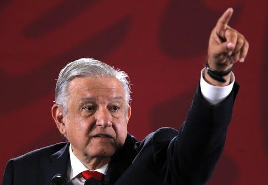 El presidente de México, Andrés Manuel López Obrador durante su conferencia de prensa matutina, en Ciudad de México (México).