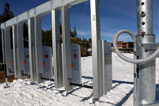 The new automatic lift ticket checkers are seen at Mt. Rose Ski Tahoe on Oct. 23, 2019.
