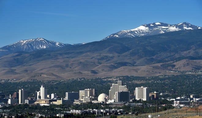 Reno skyline July 2, 2019