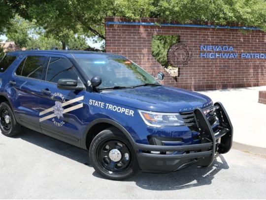 A side view of a Nevada Highway Patrol vehicle