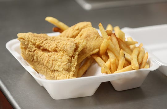 The fish fry lunch special is a neighborhood favorite at Mini H Mart on North Street.