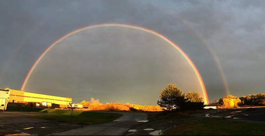 Double rainbow over Rochester