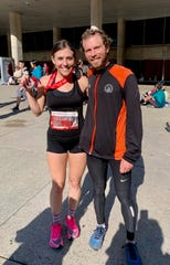 Siblings Jessica and Tim Chichester at the 2019 Scotiabank Toronto Waterfront Marathon. Both siblings have qualified to run the marathon at the 2020 Olympic Trials.