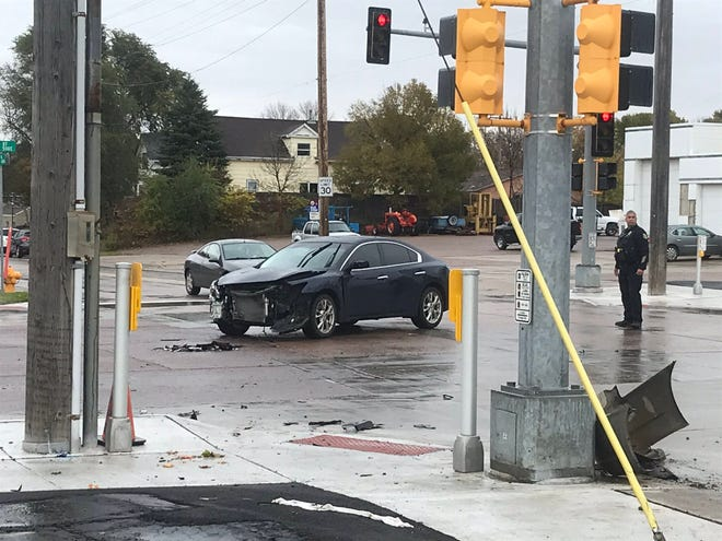 The scene of a crash at East Sixth Street and North Weber Avenue on Oct. 23, 2019.