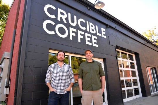 Crucible Coffee in Staunton has recently opened it's retail shop. The new coffee roaster, coffee wholesaler and coffee spot is located near Lewis Creek off Middlebrook Avenue. The veteran-owned shop is headed by Brandon Bishop (left) and Kean Ivey (right).
