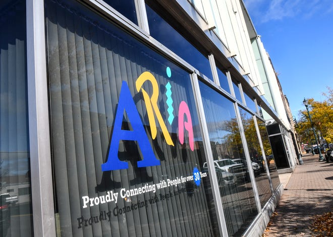 The Aria building is pictured Wednesday, Oct. 23, in downtown St. Cloud. The company announced that it may lay off 215 employees before the end of the year.