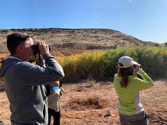 Bird watchers at Tonaquint Park.