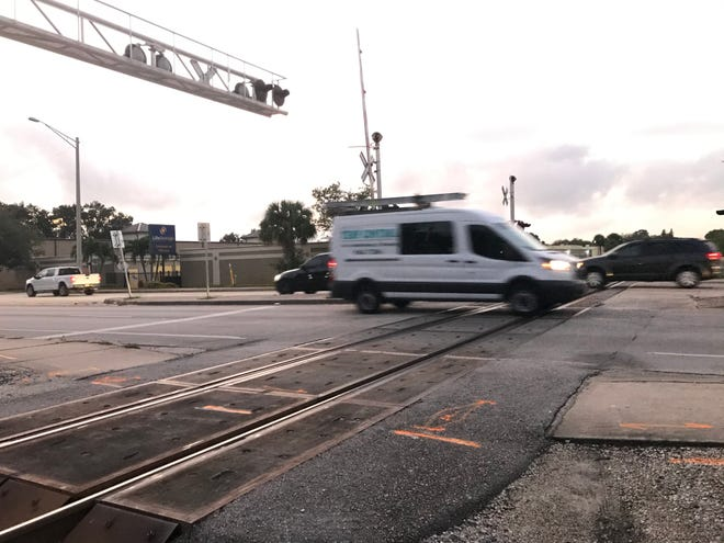 A man was flown to a hospital after being struck by a train near the 1600 block of Old Dixie Highway early Wednesday Oct. 23, 2019 , fire officials said.