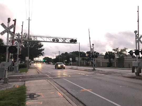 Firefighters said the location the man was hit was roughly near the railroad crossing on on 16th Street between 8th Avenue and Old Dixie Highway.