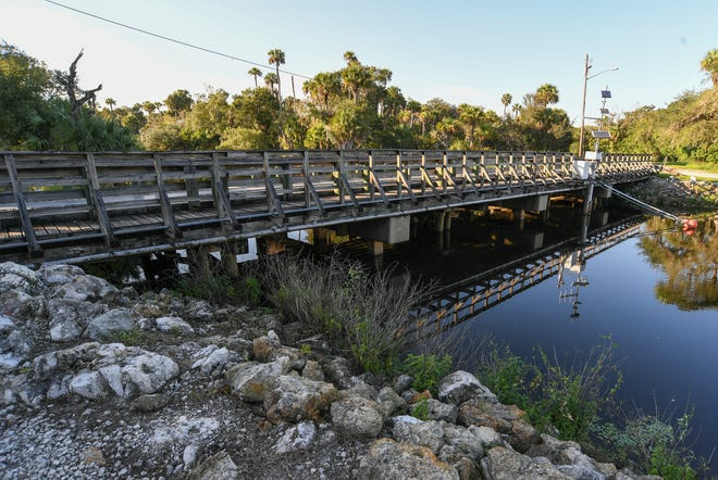 The Gordy Road bridge, seen on Monday, Oct. 21, 2019, spans Ten Mile Creek just west of the Florida Turnpike in Fort Pierce. The bridge is one of several bridges in St. Lucie County that are listed as being structurally deficient.