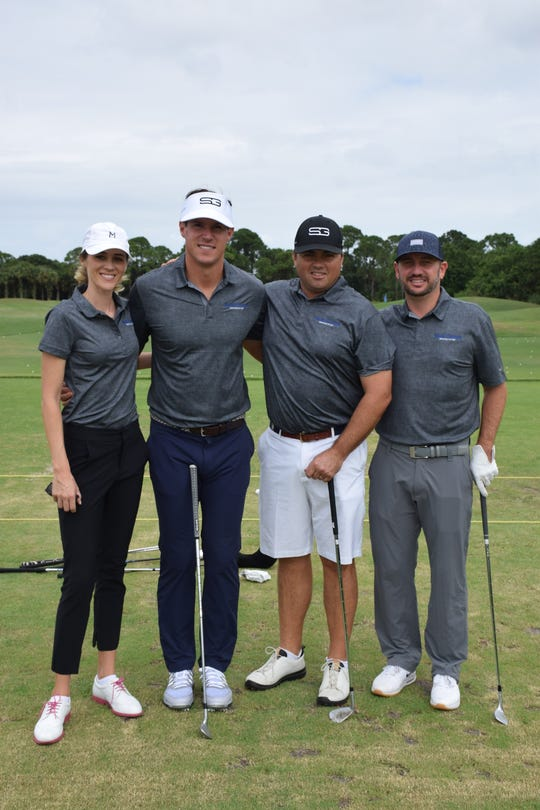 Courtney Ditrich, left, Ryan Scarpa, Drew Botallico and Mike Merrill at the 2019 Smoke Inn Golf Tournament at the the Indian River Club, Vero Beach.