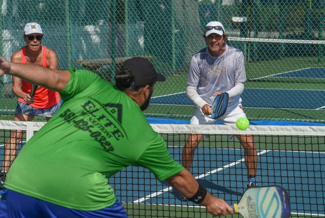 Pickleball will come to Sebastian this week, with opening of the long awaited courts near the city golf course. Here, members of Pickleball University played Oct. 22 at Pocahontas Park in Vero Beach.