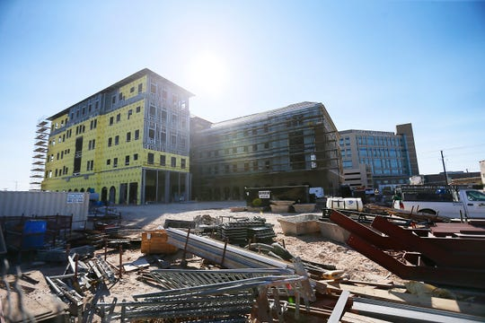 Texas Tech University Health Sciences Center El Paso's Medical Science Building II is shown under construction Wednesday, Oct. 23, 2019.