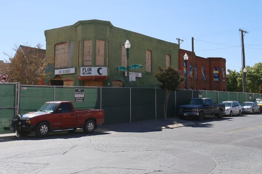 The fenced-off Duranguito neighborhood is shown Tuesday, Oct. 22, in El Paso.