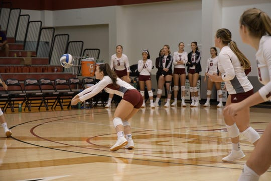 Former Franklin volleyball player Danielle Blanco has been a steady performer for Rider University.