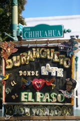 A sign in the Duranguito neighborhood is shown Tuesday, Oct. 22, 2019, in El Paso.