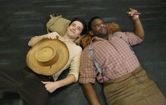 "Josey Montana McCoy stars as Huck and David AronDamanestars as Jim in Rubicon Theatre's""Big River: The Adventures of Huckleberry Finn."" The show in Ventura runs Oct. 23-Nov. 10."