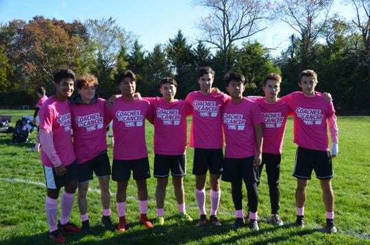 Vineland High School's boys' soccer team supported the American Cancer Society by participating in theCoaches vs. Cancer program.