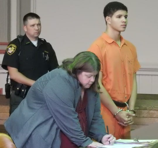 Shawn Stewart, represented by Attorney Amy Otto, was sentenced to 15 years in prison Wednesday for beating a female.