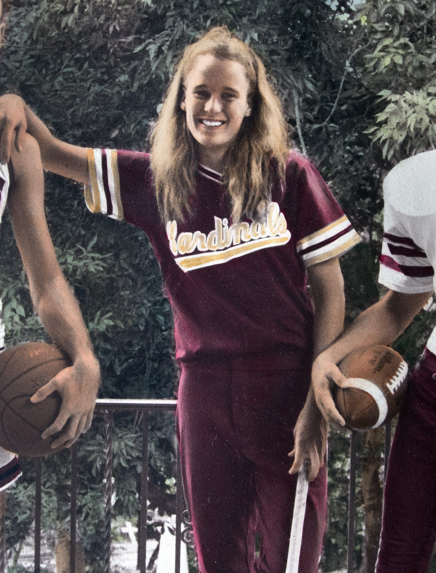 Mary McHale in a sports portrait from 1989-90 when she was 17-18, the time of the priest abuse.