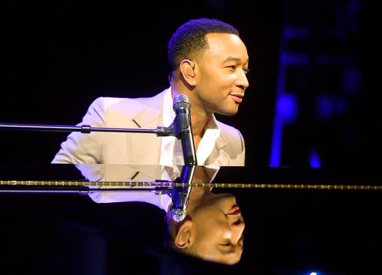 John Legend performs onstage at Vanity Fair's 6th Annual New Establishment Summit at Wallis Annenberg Center for the Performing Arts on October 22, 2019 in Beverly Hills, California.
