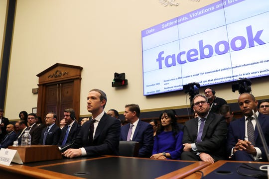 Facebook CEO Mark Zuckerberg testifies before the House Financial Services Committee on Oct. 23, 2019.