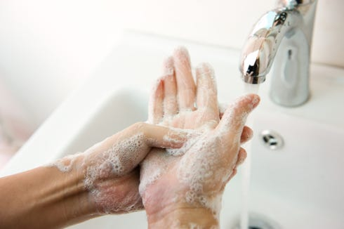 Regular hand-washing is a crucial way to stop germs from spreading.