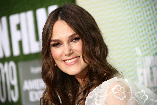 Actress Keira Knightley poses for photographers upon arrival at the premiere of the 'Official Secrets' which is screened as part of the London Film Festival, in central London, Thursday, Oct. 10, 2019.